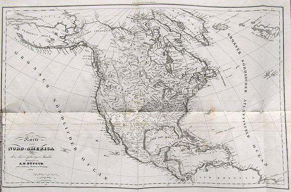 DUFOUR, A. H. - Karte von Nord-America und den dazu gehörigen Inseln.
