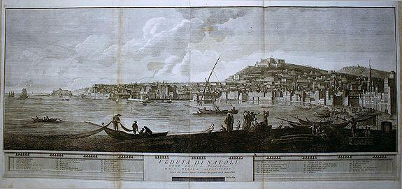 CARDON, A. - Veduta di Napoli dalla parte di Ponente.