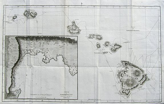 COOK, J. - Chart of the Sandwich Islands.