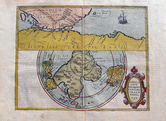 METELLUS, J. - Chica sive Patagonica et Australis terra. 1598.