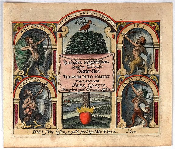 MEISNER, D. - Thesauri Philopolitici  Tomi Secundi Pars Quarta (Title Page)
