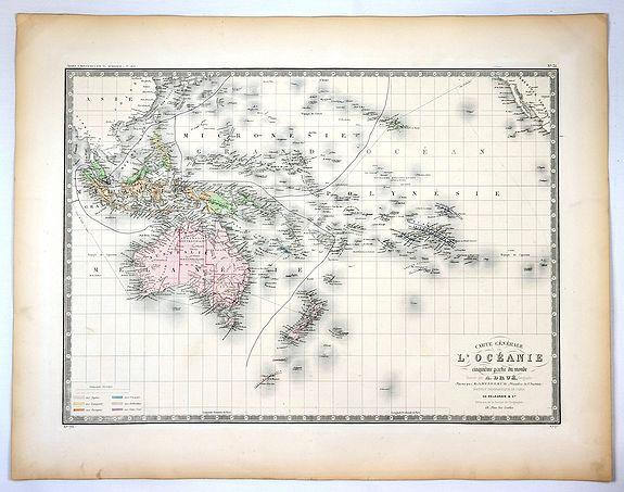 BRUE, A. - Carte Generale de L'Oceanie Cinquieme Partie du Monde ...