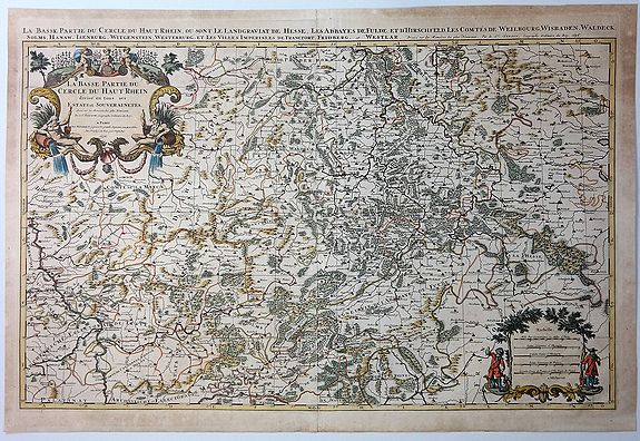 JAILLOT, A. - La Basse Partie du Cercle du Haute Rhein Divisee en Tous Ses Stats et Souveraintes.