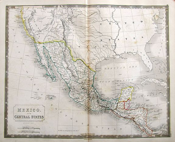 HALL, S. - Mexico. And Central States Corrected from original information communicated by Simon A.G. Bourne Esq.
