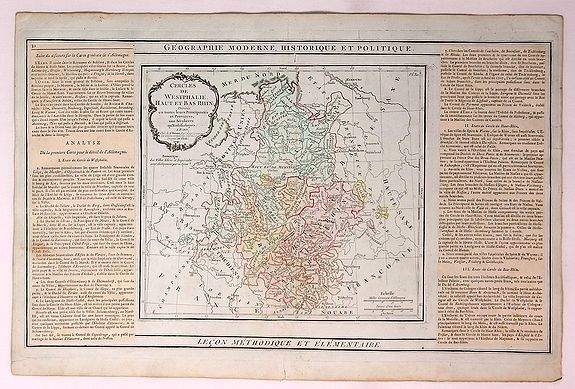 BRION DE LA TOUR / DESNOS. - Cercles de Westphalie Haut et Bas Rhin Divises en Toutes Leurs Principautes et Provinces…