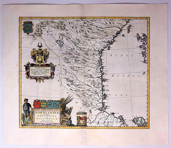 BLAEU, J. - Norlandiae et Quibies Gestricia et Helsingicae Regiones.