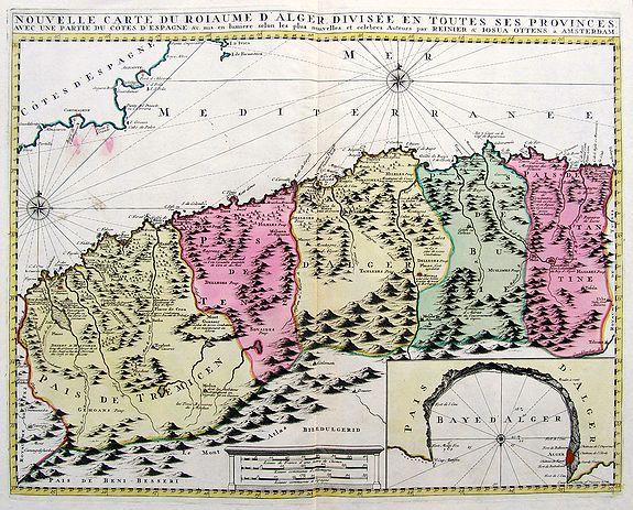 OTTENS, R. & J. - Nouvelle Carte du Royaume d'Alger divisée en toutes ses Provinces...