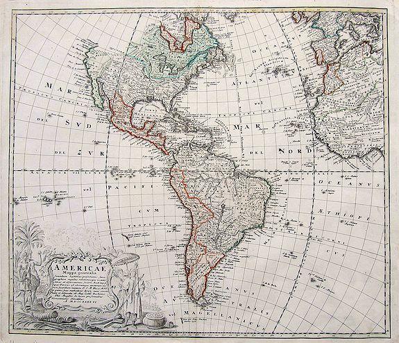 HOMANN HEIRS - Americae Mappa generalis...