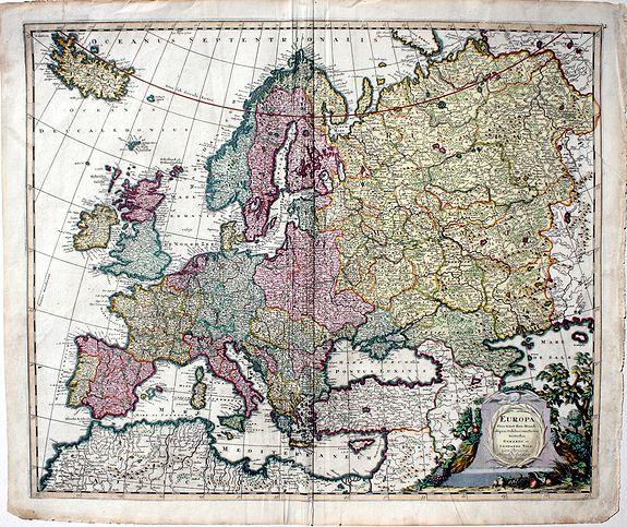 VALK, Gerard & Leonard - Europa Pars Tenet haec Mundi Reliquas Celeberrima Partes...