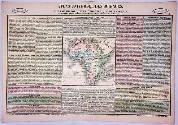 DUVAL, H. - Tableau Historique et Geographique de L'Afrique.