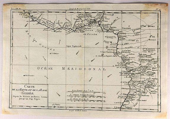 BONNE, R. - Carte de la Haute et de la Basse Guinee.