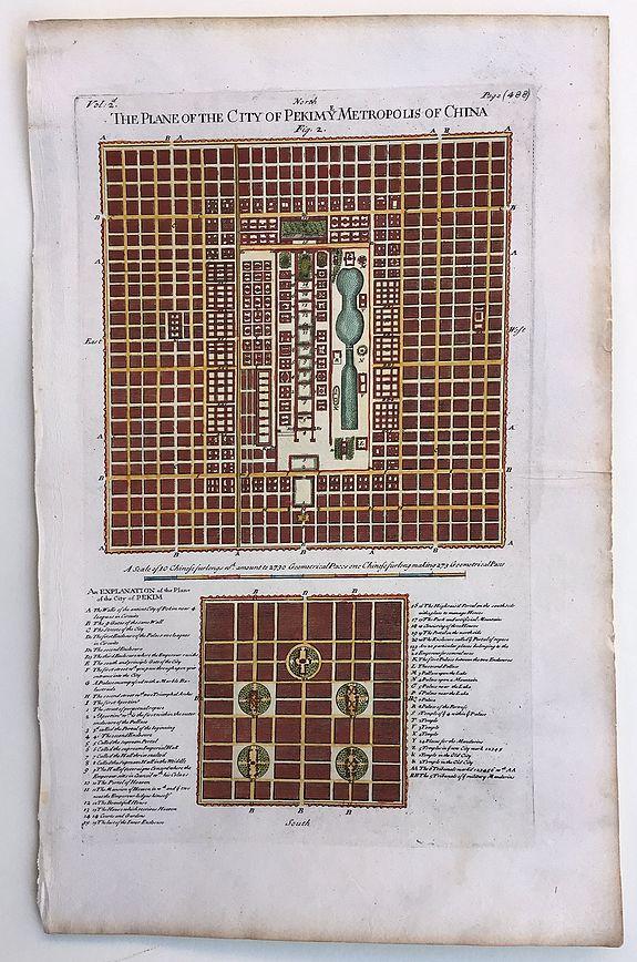 OGILBY, John. - Plan(e) of the City of Pekimy Metropolis of China.