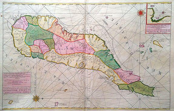 MORTIER, Pierre. - Carte particuliere de L´Isle Dauphine ou Madagascar et St Laurens.
