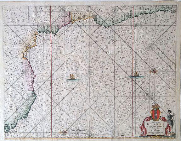 JACOBZ.,Theunis - Pascaerte van Guinea, en Angola, van R de Gambia tot Cabo de Bona Esperanca.