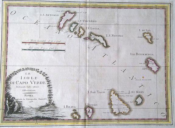 CASSINI, Gio. Ma. (Giovanni Maria) - Le Isole Di Capo Verde.