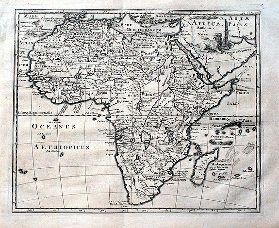 CLUVER, P. - Africa antiqua et nova.