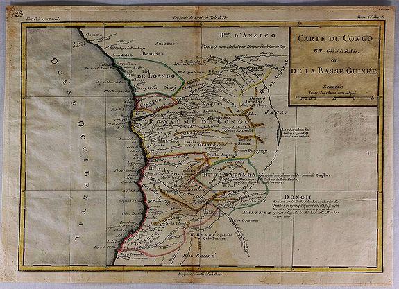 BRION DE LA TOUR, L. - Carte du Congo en General ou de la Basse Guinee.