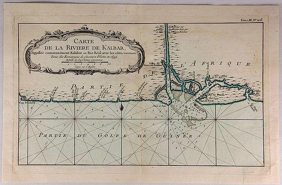 BELLIN, N. - Carte de la Riviere de Kalbar…