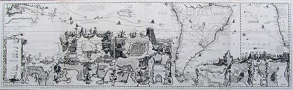 CHATELAIN, H. - Carte tres Curieuse de la Mer du Sud... (southern sheet only)