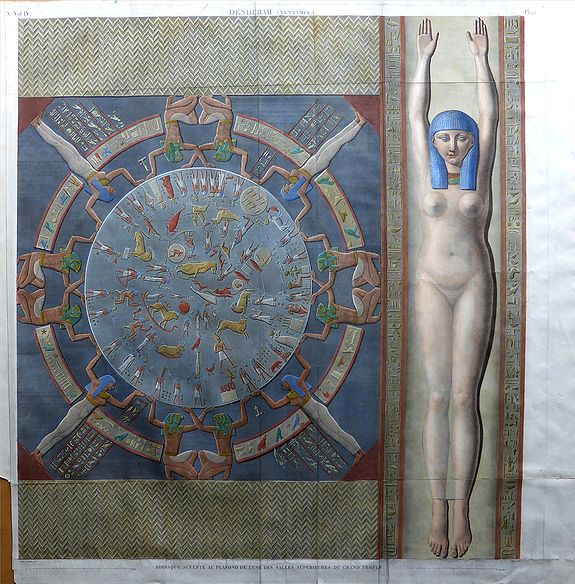 Jollois - Devilliers - Louis Jean Allias. - DENDERHA (TENTYRIS)  Zodiaque Sculpte Au Plafond De L'Une Des Salles Superieures Du Grand Temple.
