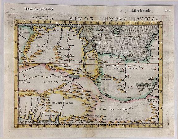 RUSCELLI, G. - Africa Minor Nuova Tavola.