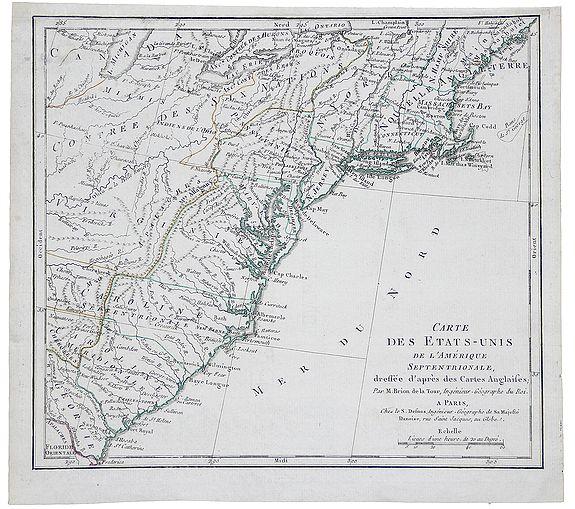 BRION, M. -  Carte des Etats-Unis de l'Amerique Septentrionale.