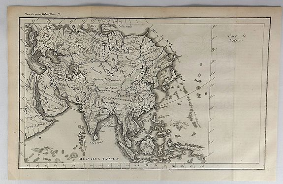 FILLOEUL. - Carte de l'Asie.