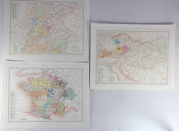 BAUDEMENT, E. - Carte de L'Empire D'Autriche Pour Servir a L'Histoire des Races Bovines (3 Maps.)