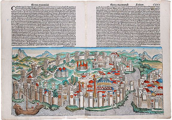 SCHEDEL, Hartmann - CONSTANTINOPOLIS, view (Turkey, Instanbul).