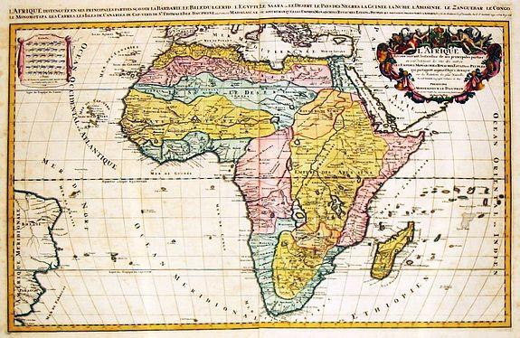 JAILLOT, Alexis-Hubert - L' Afrique / divisee suivant l' estendue de ses principales parties.