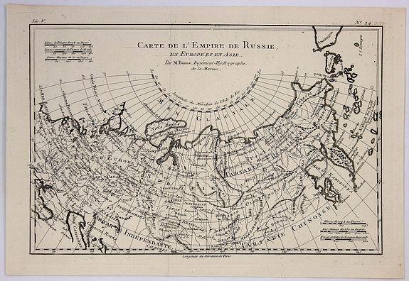 BONNE, R. - Carte de L'Empire de Russie.