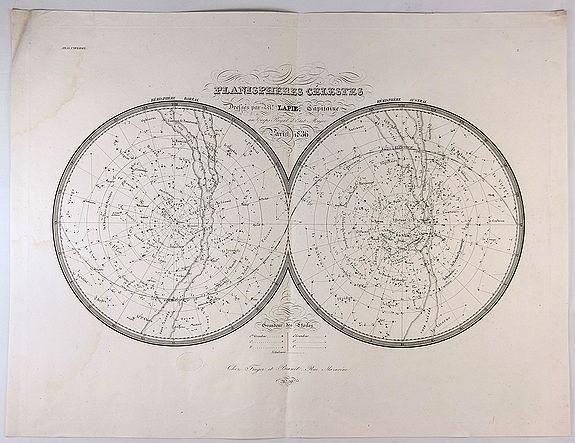 LAPIE, P & E. - Planispheres Celestes.