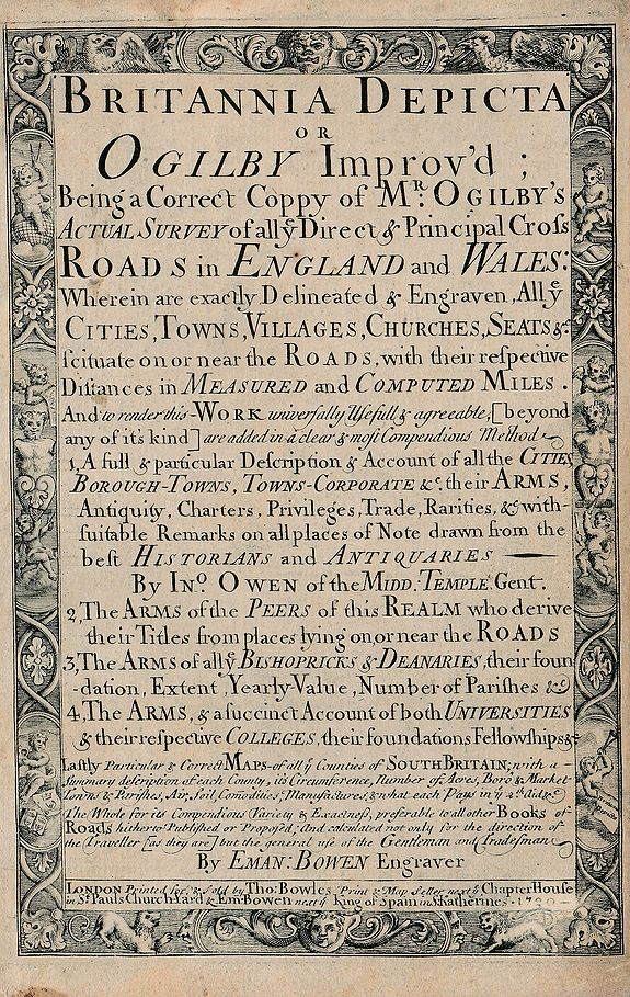 John Owen & Emanuel Bowen - Britannia Depicta or Ogilby Improv'd.