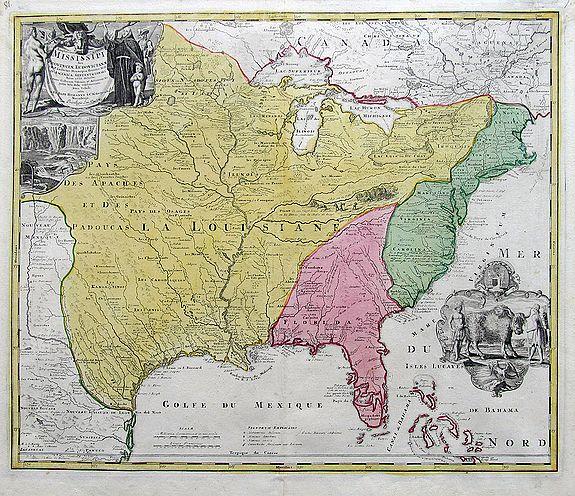 HOMANN, J. B. - Amplissimae Regionis Mississipi... (The Bufflao Map).