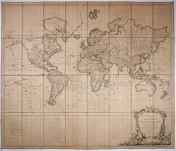 VAUGONDY, Gilles Robert de - Mappe Monde ou carte générale du globe terrestre.