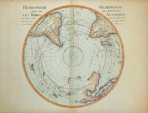 De l'Isle, G. - Hemisphere Meridional pour voir plus distinctement les Terres Australes