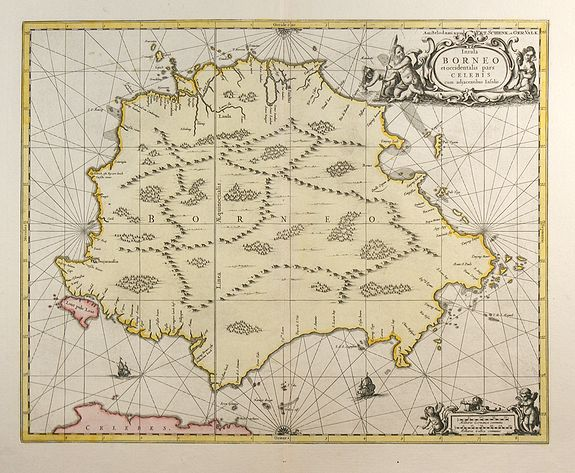 VALK & SCHENK - Insula Borneo et Occidentalis Pars Celebis cum Adjacentibus Insulis