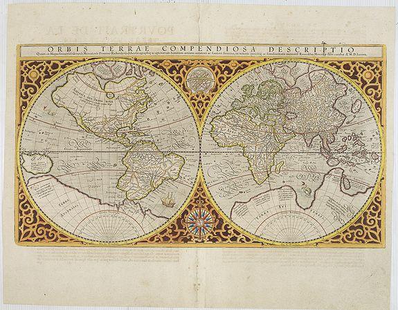 MERCATOR, R. / HONDIUS, J. - Orbis Terrae Compendiosa Descriptio.